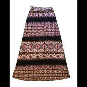 "Renee C ""Natalia"" printed maxi skirt"